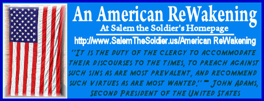 Promo Graphic for Salem the Soldiers' Homepage, American Rewakening site!