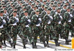 Iranian Army parade formation