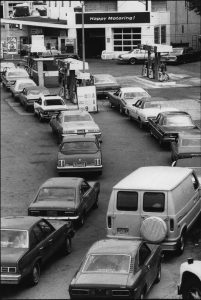1973 long gas station lines.